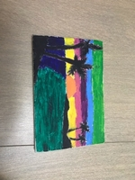 Used Painting of a sunset in Dubai, UAE