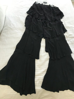Used Black flare pants Zara high waisted  in Dubai, UAE