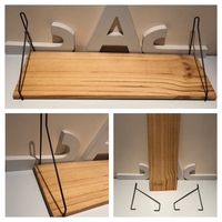 Used wood wall shelf new  in Dubai, UAE