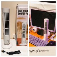 Used USB Tower Fans 2 pcs new color white in Dubai, UAE