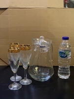 Used Decanter Luminarc with 3 glasses  in Dubai, UAE
