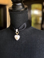 Used Chanel Heart Choker Necklace New Collect in Dubai, UAE