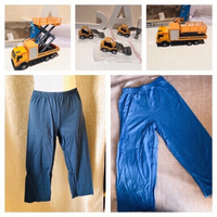 Used 2 pants 4 + 8 Years & 4 toy cars  new in Dubai, UAE