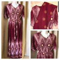 Used Nice dress with scarf burgundy 3XL in Dubai, UAE
