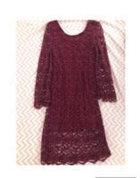 Used Burgundy Medium-Length Dress in Dubai, UAE