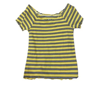 Used Justice Yellow Striped T-shirt  in Dubai, UAE