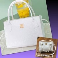 Used MINI WHITE CROCODILE PATTERN BAG in Dubai, UAE