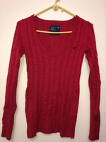 Used American Eagle Red Cable Knit Sweater  in Dubai, UAE