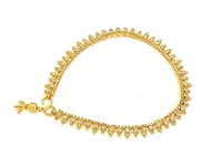 Used Gold plated CZ anklet  in Dubai, UAE