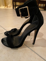 Used 2 for 1 Suede heeled sandals in Dubai, UAE