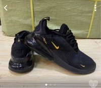 Used Nike Airmax 270 black/gold size 40, new  in Dubai, UAE