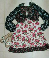 Used Summery outfit dress and slippers in Dubai, UAE