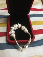 Used Crystal murano beads charm bracelet in Dubai, UAE