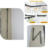 Used Wall Mounted Folding Clothes Hanger in Dubai, UAE