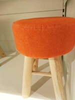 Used Orange Puff Stool in Dubai, UAE