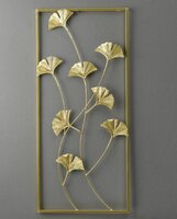 Used Gold Ginkgo Leaf Framed Wall Decor in Dubai, UAE