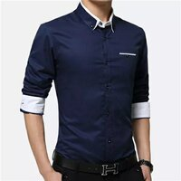 Used Brand new slim fit blue men shirt size S in Dubai, UAE