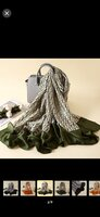 Used Dior scarf - green olives in Dubai, UAE