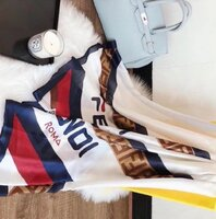 Used FENDI scarf - white in Dubai, UAE