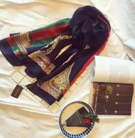 Used Gucci navy scarf in Dubai, UAE