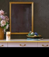 Used Mirror with gold wooden frame in Dubai, UAE