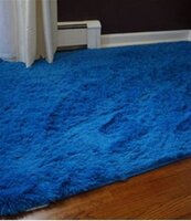 Used Blue fluffy rug from Home Center in Dubai, UAE