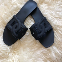 Used Black fashion slippers size EU 37 / 38 in Dubai, UAE