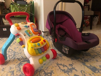 Used Kidstarr car seat+carrier with walker in Dubai, UAE