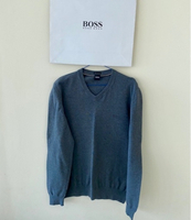 Used HUGO BOSS V neck wool sweater L in Dubai, UAE