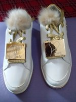 Used NICKY WHITE GOLD SHOES. 40 in Dubai, UAE