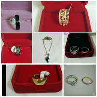 Used 6Pcs Ring And 1Pcs Necklace (Brand New) in Dubai, UAE