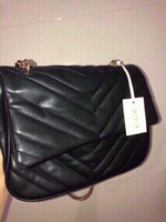 Used Black leather shoulder bag  in Dubai, UAE