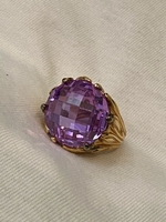 Used Gold filled 925  silver ring large Stone in Dubai, UAE