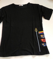 Used Black T-shirt size xl fits M(new) in Dubai, UAE