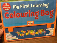 Used Coloring bag with 10 coloring books in Dubai, UAE