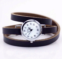 Used women watch with brown leather band in Dubai, UAE