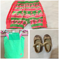 Used Cute Baby girl Dress and Shoes. in Dubai, UAE