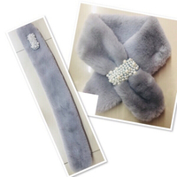 Used Grey Fur Collar Scarf ♥️ in Dubai, UAE