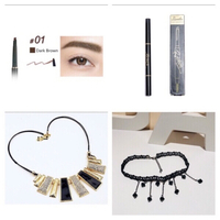 Used Necklaces & eyebrows pencil with brush  in Dubai, UAE