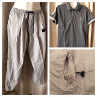 Used Polo and grey pants size M new in Dubai, UAE