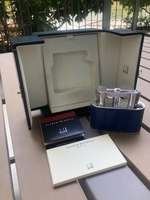 Used Dunhill Table lighter in croc leather in Dubai, UAE