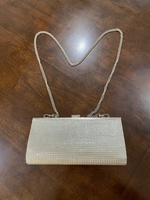 Used Silver Clutch with Detachable Strap  in Dubai, UAE
