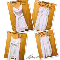 Used 2 white Dress size : Small ❤️ in Dubai, UAE