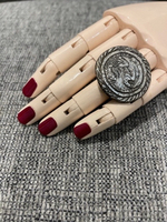 Used Statement ring from steel with yaguar in Dubai, UAE
