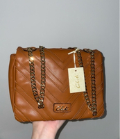 Used NEW Brown Leather Shoulder Bag in Dubai, UAE