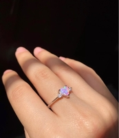 Used Pink heart opal silver ring in Dubai, UAE