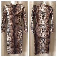 Used Tiger print stretch dress size S in Dubai, UAE