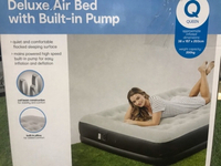 Used Deluxe Double Air Bed with Built in Pump in Dubai, UAE