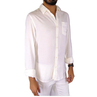 Used White cotton Elegantw shirt summer fab  in Dubai, UAE
