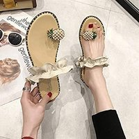 Used Pineapple toe flat slipper size 37 in Dubai, UAE